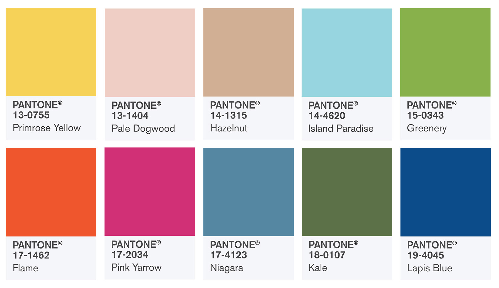 Pantone interior color predictions for 2017