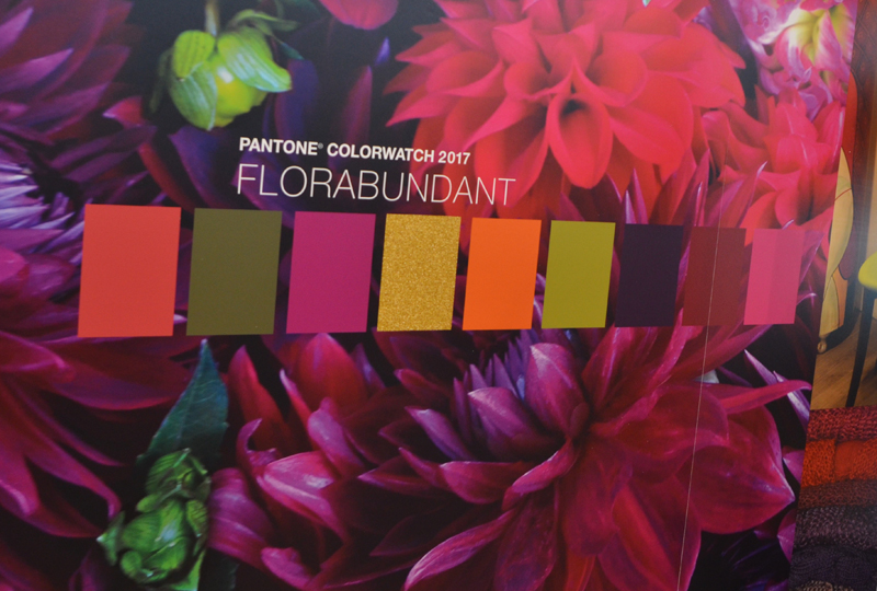 Pantone color theme Florabundant