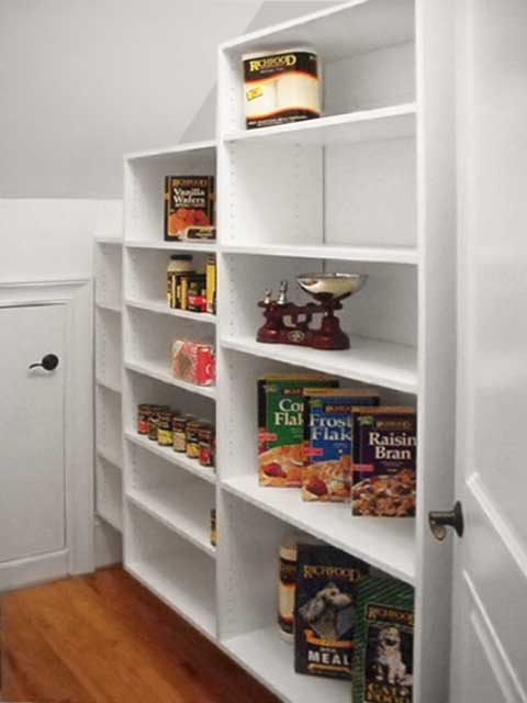 pantry closet under the stairs