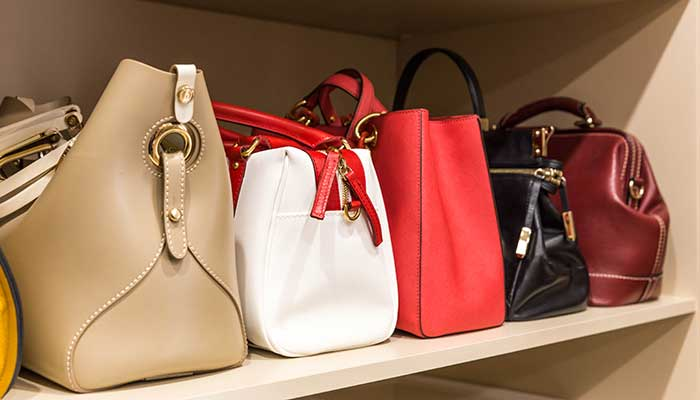 proper purse storage requires keeping the bag stuffed with acid free paper or cottom sheets