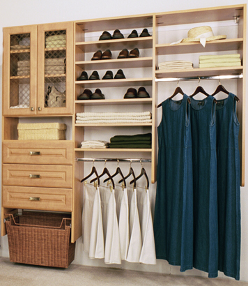 reach-in closet design for a woman