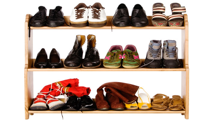 wooden shoe rack for shoes organization