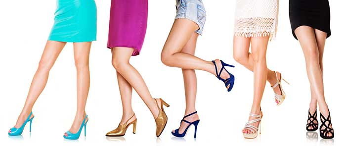 legs with shoes to match hemline