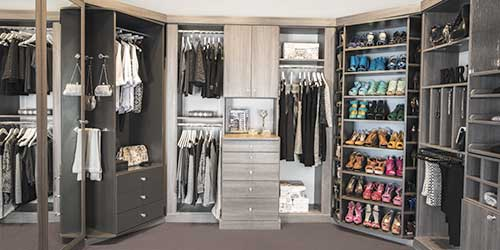Rotating closet system from Closet Works