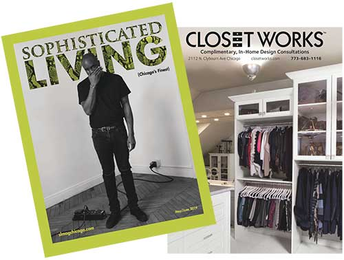 Closet Works featured in the May June 2019 issue of Sophisticated Living magazine