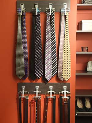 hooks for ties and belts