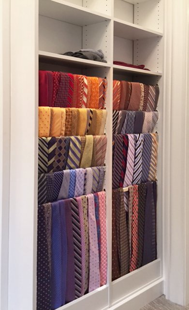 ... How To Store Ties In A Closet Using Clothes Rods