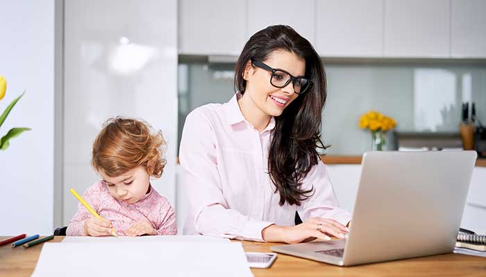 Work from home with child