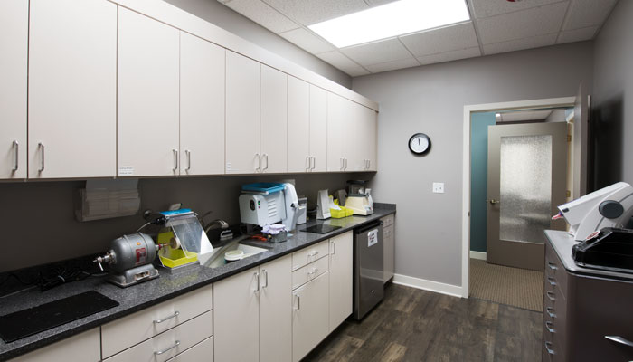 Dental Office Cabinets In Laboratory