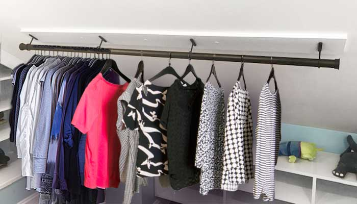 Use an attic closet for out of season clothes