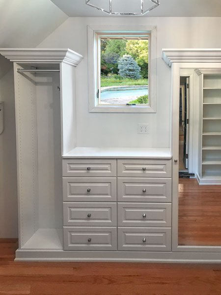 how to maximize storage with window in closet