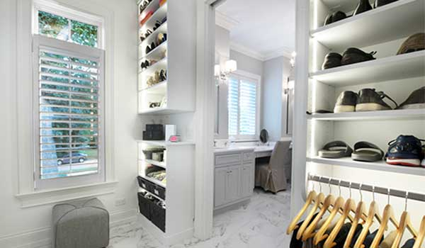 Updating a historic home with a modern closet and closet lighting
