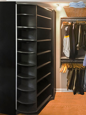 Master closet design with a 360 organizer by Lazy Lee
