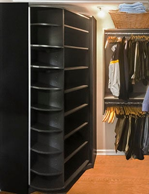 360 Organizer Spinning Closet Organizer For Shoe Closets