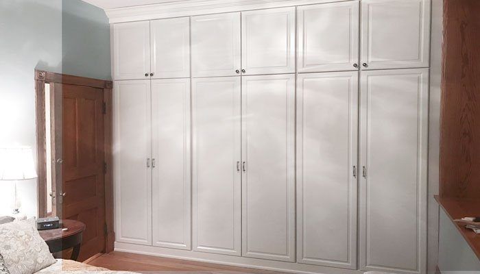 custom wardrobe closet organization system with harmony doors