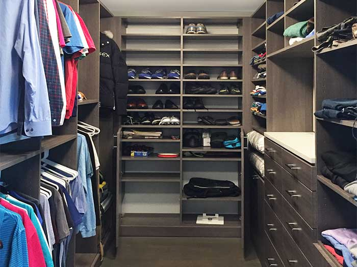 cabinet below shoe shelves for boots and bulkier items