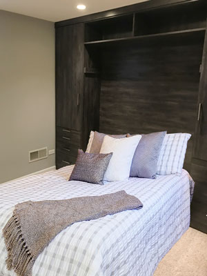 wall bed down in Vintage laminate