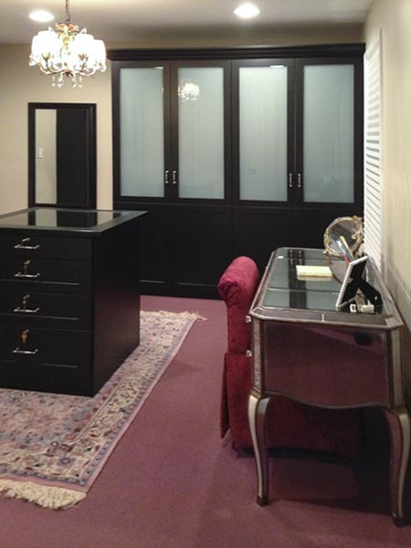 Black wardrobe closet for bedroom and dressing room
