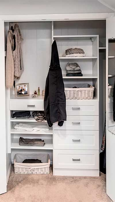 Small closet under the stairs