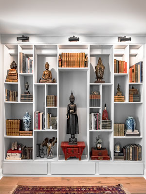 decorative wall unit designed with feng shui practices