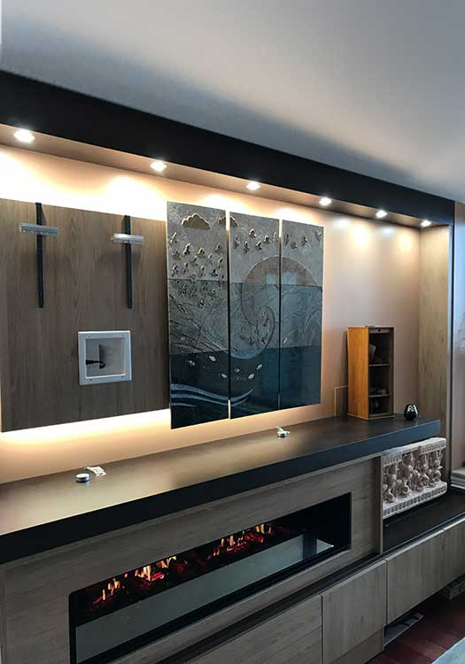 Custom Entertainment Center And Fireplace Surround