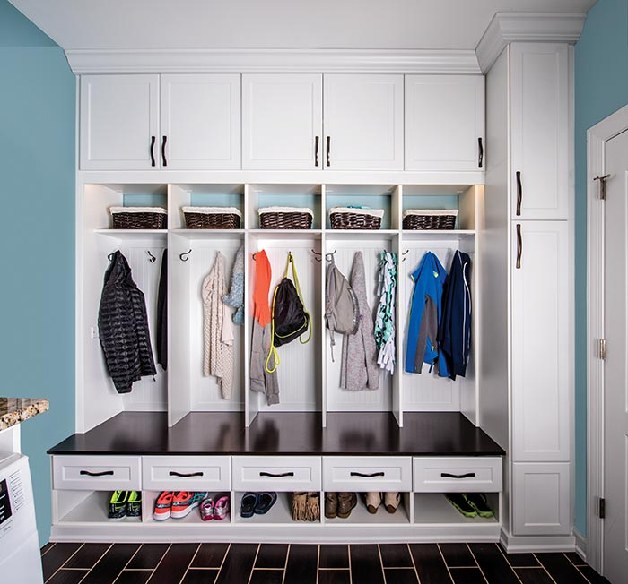 laundry room mud room combination organization and storage