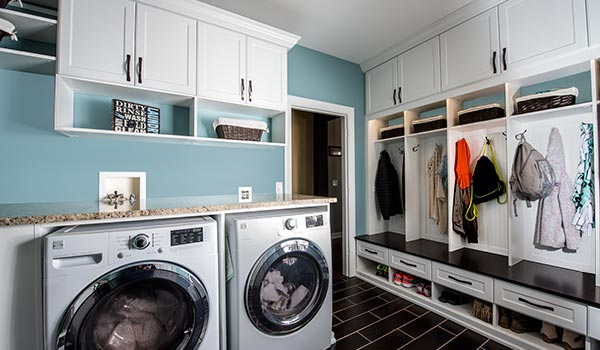 Custom Design For Combination Laundry Room And Mudroom Busy Family Entrance