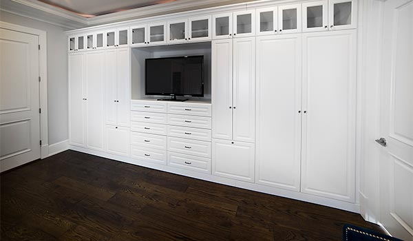 Custom wall unit for master bedroom