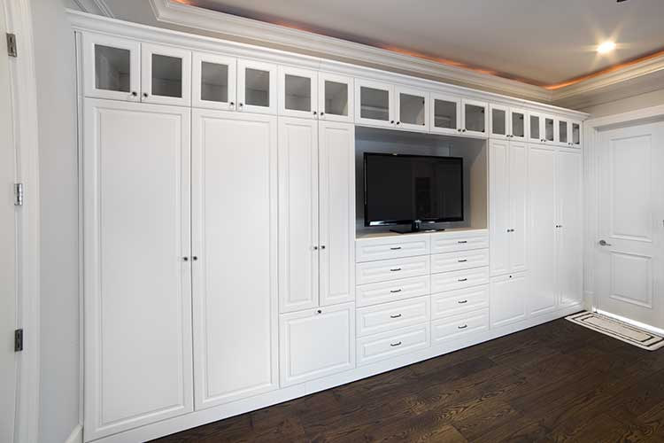 Custom Wall Unit Storage For The Bedroom, Storage Wall System