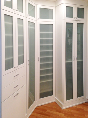 custom glass cabinet closet