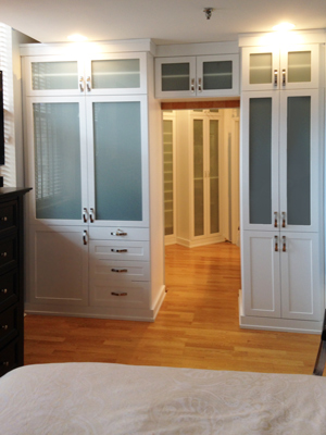 custom closet unit entryway