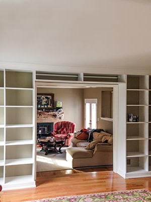 custom wall unit design for home library
