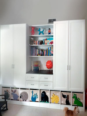 white wall unit/wardrobe closet for son's bedroom
