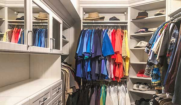 how to downsize home by organizing closets