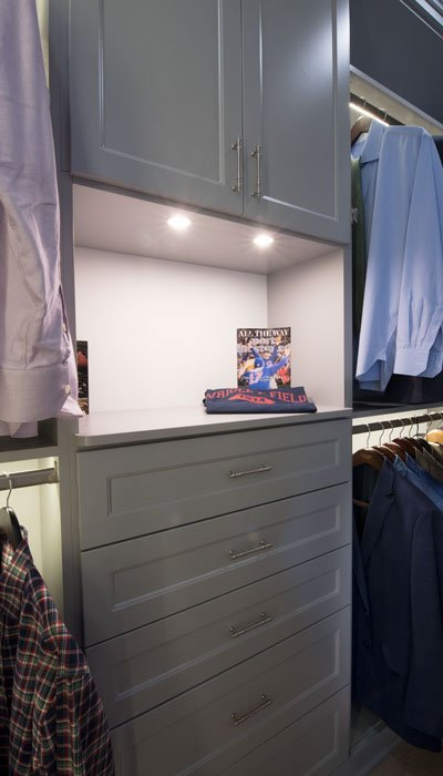 His side of custom closets systems