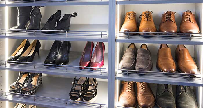closet lighting enhances ability to find shoes
