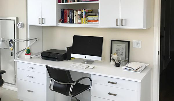 Home office designs with office wire management