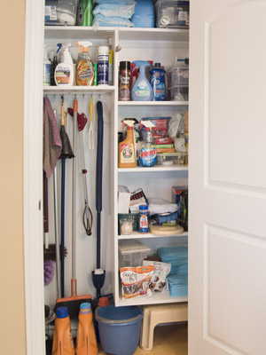 Custom broom closet