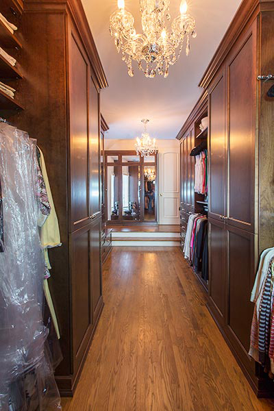 Custom closet cabinetry with drawers in Dressing Room Closet