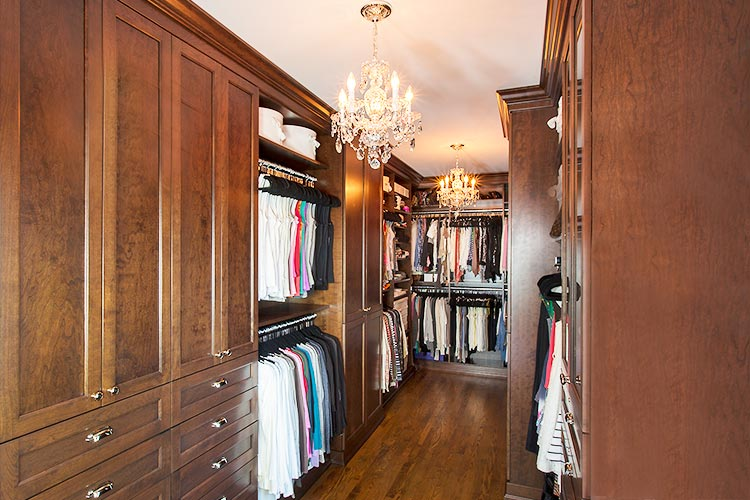 All wood custom closet systems