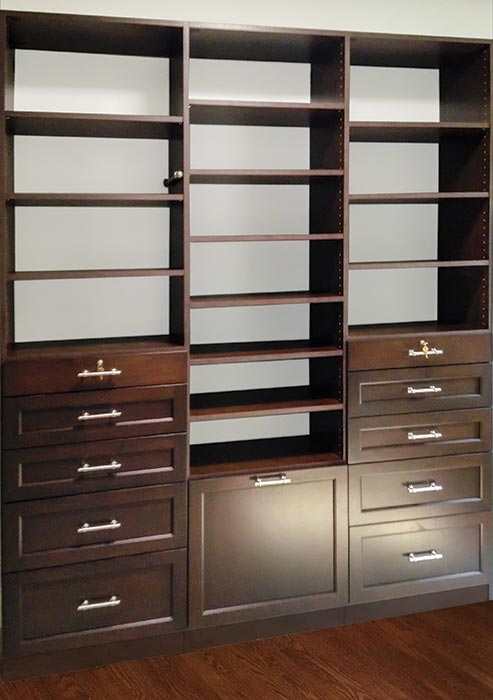 Wall Unit in Cocoa TFL and Shaker Mission Door