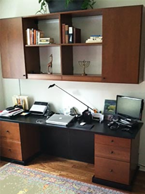 Custom home office before and after photos
