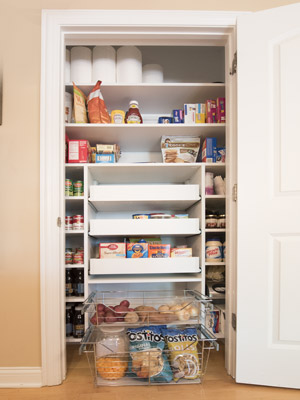 Custom Compact Space Pantry