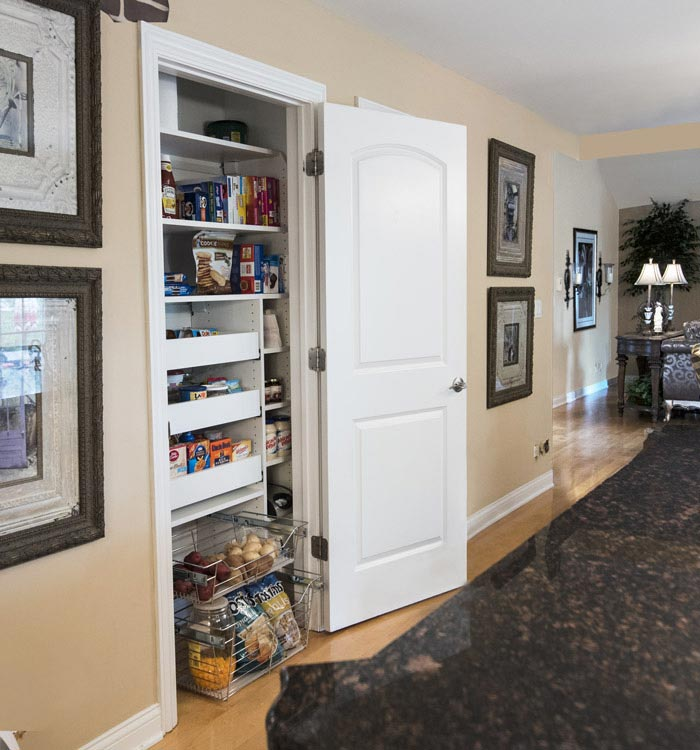 Pantry closet system designed for compact space