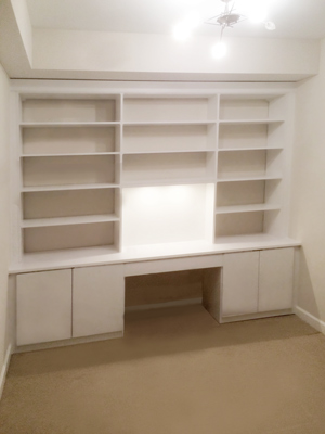 Custom home office wall unit