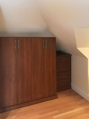 wardrobe for uneven floors and sloped walls