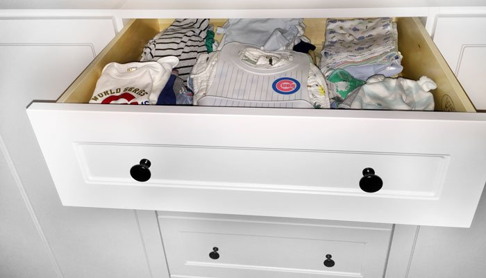 drawers for folding baby clothing