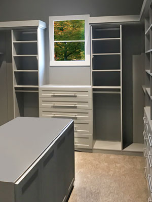 expansive master walk in closet