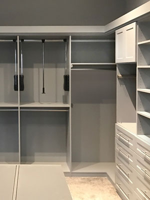 closet with pull down rods
