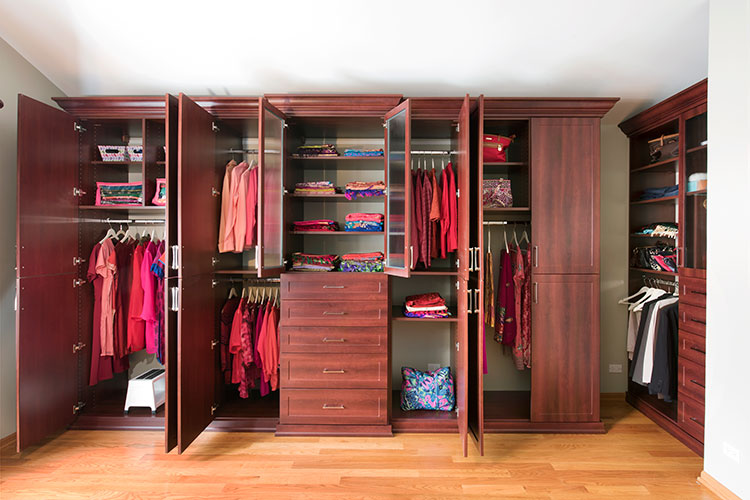 Custom Bedroom Closet Wardrobes With Solves The No Closet In Bedroom Problem